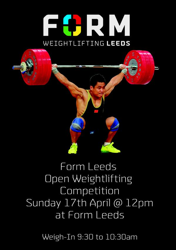 Form Leeds Open Weightlifting Competition | Bookitbee